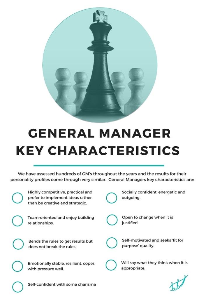 General Manager Key Characteristics | hfi general manager assessment